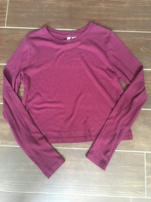 H&M Divided Cropped shirt paars