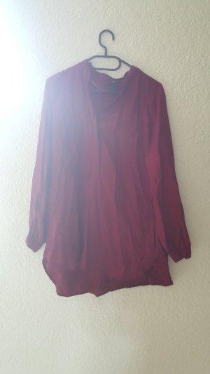 Weinrotes Hemd mit 2 eingelassenen Taschen
