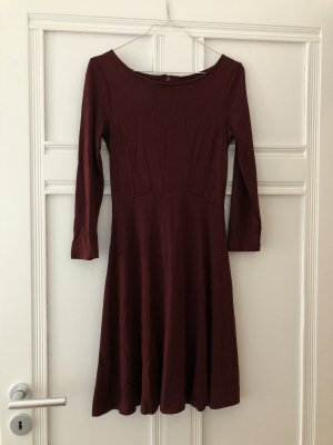 Weinrotes Jerseykleid French Connection Viskose