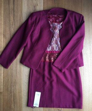 Weinrotes Kleid mit Jäckchen NEU