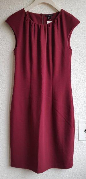 Weinrotes Kleid von H&M in Gr. 40