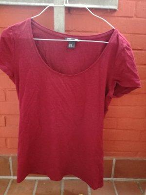 H&M T-shirt bordeaux-karmijn