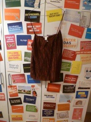 H&M Camisa de mujer burdeos-carmín Poliéster