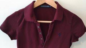 Weinrotes Polo-Shirt