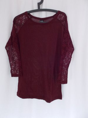 Sublevel Camisa tejida rojo oscuro-carmín