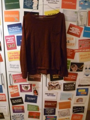 Weinrotes Shirt von H&M, Pulli, Bordeaux, Basic, Blogger