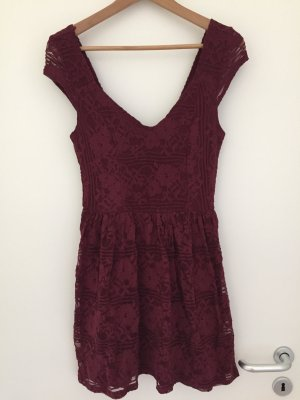 Hollister Lace Dress bordeaux
