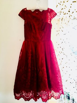 Chi Chi London Lace Dress carmine-bordeaux