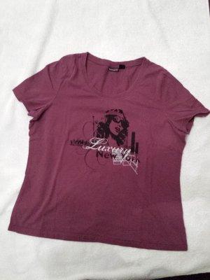 weinrotes T-Shirt von Esmara, Gr.44 / 46