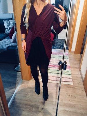 Zara Shirt bordeaux-roodbruin