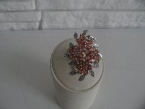 weis gold Ring 585 mit Edel  steine diamantiert