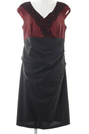 Weise Abendkleid dunkelrot-schwarz Elegant