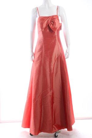 Weise Abendkleid lachs Romantik-Look