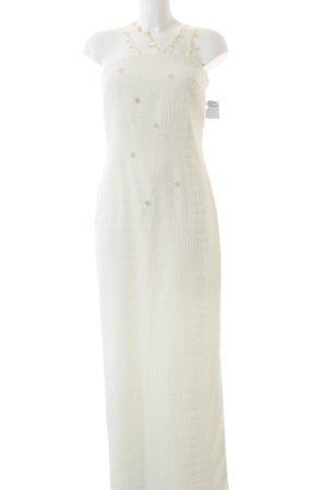 Weise Abendkleid weiß Elegant