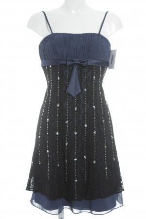 Weise Cocktailkleid stahlblau-schwarz Elegant
