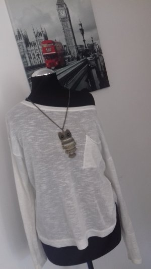 H&M Blusa in lino bianco