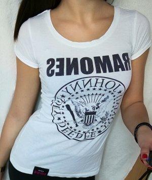 """Weiß bedrucktes T-Shirt Gr. S mit """"Ramones"""""""