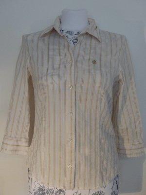 weiß beige Streifen - Stretch - Bluse von Gerry Weber - super Zustand