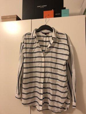 Weiß-Blau gestreifte Bluse von Tom Tailor