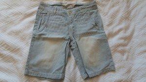 Weiß-blau Gestreifte Shorts