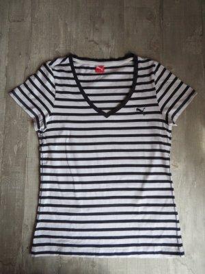 Weiß-blau gestreiftes Puma-Shirt