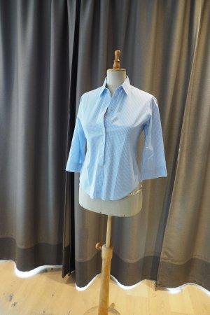 Weiß/blau kariertes Hemd