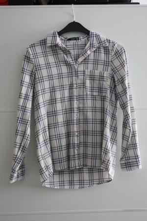 Weiß-Blau kariertes Hemd von Mango
