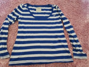 Weiß Blauer gestreifter dünner Pullover