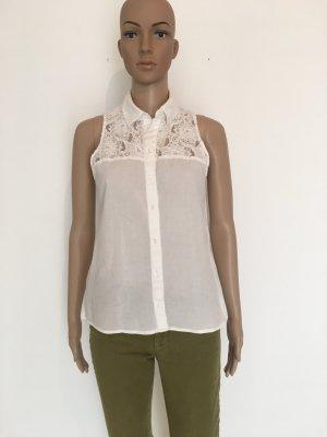 H&M Conscious Collection Blouse sans manche blanc coton