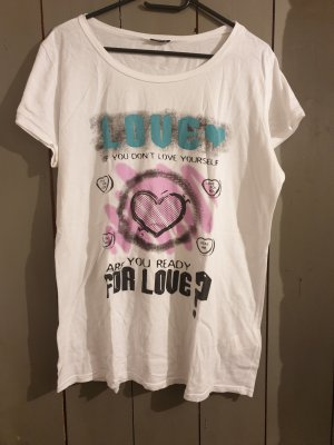 weiß buntes T-Shirt von Mötivi