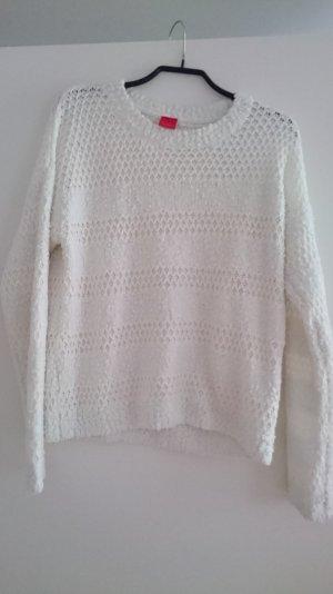 Weiß/cremfarbener Pullover
