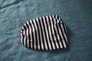 C&A Haarband wit-donkerblauw Katoen