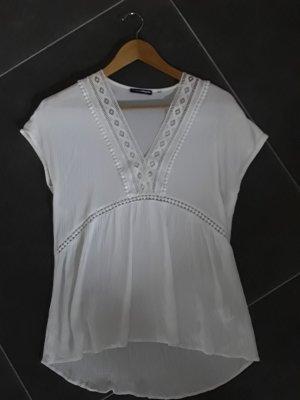 Charles Vögele Crochet Shirt white viscose