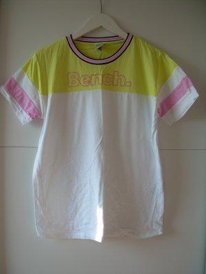 weiß gelbes T-Shirt von Bench Gr. XL 42