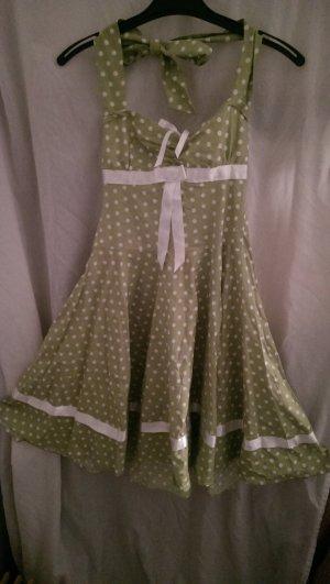 Petticoat Dress white-lime-green