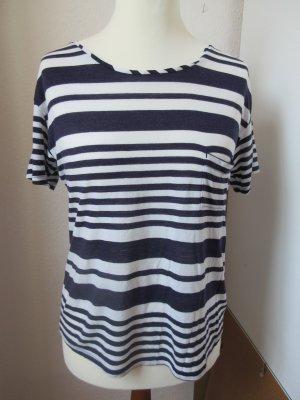 Petit bateau Camisa de rayas azul-blanco lyocell
