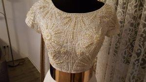 weiß gold abendkleid