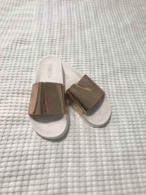Weiß Gold Sandalen