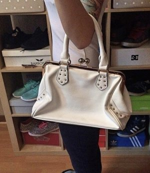 Weiß/ goldene David Jones Handtasche