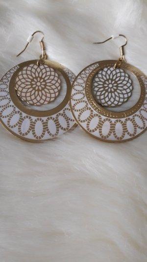weiß/goldene Ohrringe von H&m