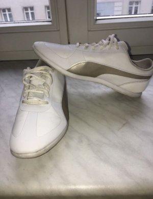 Weiß/goldene puma Schuhe tragen sich echt super
