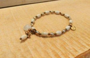 Weiß goldenes Armband von BIBA