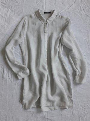 Weiß grau gemusterte Longbluse cupro SOMEDAY