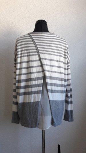 Weiß grau gestreifte Pullover COMMA 40