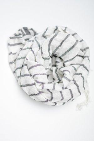 Weiß-Grau gestreiftes Tuch