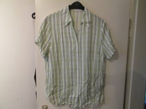 Weiß/grüne Bluse gestreift