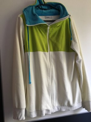 Kik Fleece jack wit-groen