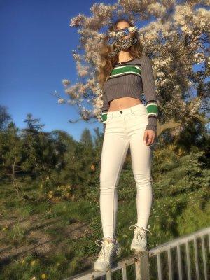 Weiß Jeans Hose