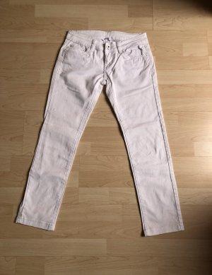 Weiß Jeans mit Lycra /Elasthan,Casual Lowwaist