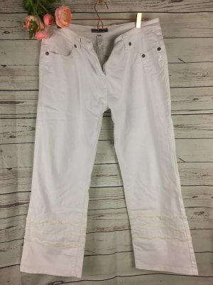 Weiss Jeans mit Pailletten verziert 44 Blind Date